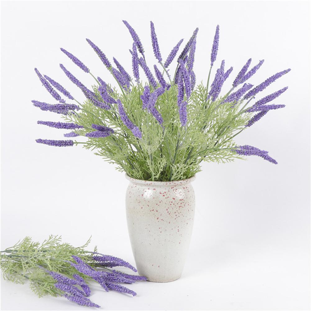 1Pc 42cm 5Branches Artificial Lavender Realistic Plant Home Wedding Party Decor
