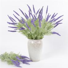 1Pc 42cm 5Branches Artificial Lavender Realistic Plant Home Wedding Party Decor