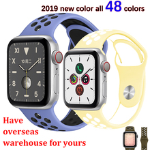 Strap For Apple Watch 4/5 band 44mm 40mm iwatch band 3 42mm 38mm pulseira correa Sport silicone bracelet belt watch Accessories цена и фото