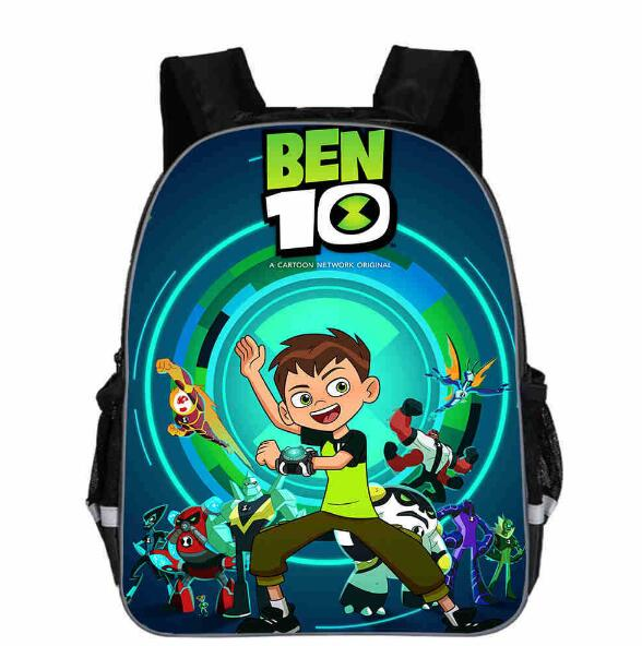 New Ben 10 Games School Bag For Teenager Boys Girls Kids Personized Schoolbag 3pcs Sets Supplier Children Hot Game Backpack