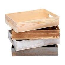 Деревянная прямоугольная коробка для хранения суккулентов в