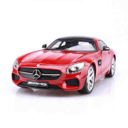 Amg Gt <font><b>1:18</b></font> Diecast Model Cars Alloy Static Simulation Metal Car Decorations For Home Miniatures <font><b>Voiture</b></font> Mini Car Collection Toy image