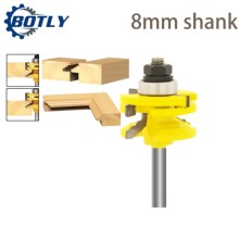 end mill router bits for wood Glass Door Rail & Stile Reversible Router Bit Woodworking Milling Cutting for Wood Tool Bits freze