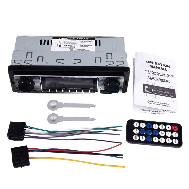 جديد-بلوتوث سيارة عتيقة راديو MP3 لاعب ستيريو USB AUX الكلاسيكية سيارة ستيريو الصوت