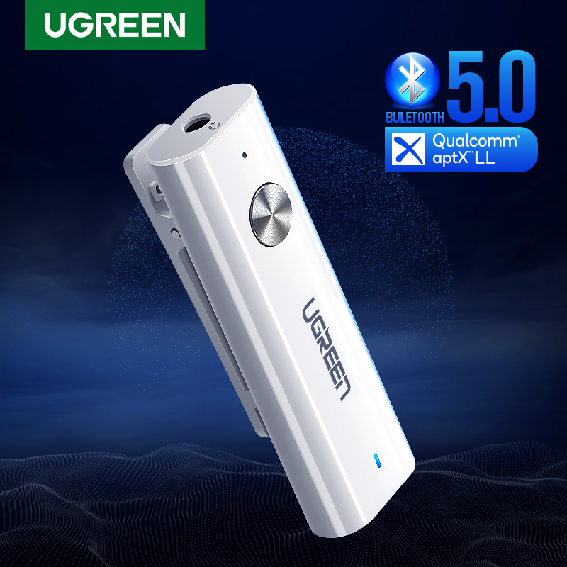 UGREEN aptX LL Bluetooth Receiver 5.0 HiFi Wireless Audio Adapter with Back Clip Support Microphone 3.5mm AUX Bluetooth Adapter|Wireless Adapter|   - AliExpress