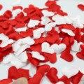 100 шт. 20 мм губка сатиновая ткань в форме сердца лепесток свадебного стола конфетти DIY Романтическая любовь ко Дню Святого Валентина украшен...