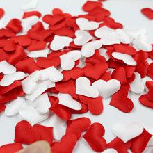 100pcs 20mm spugna tessuto di raso a forma di cuore petalo tavolo da sposa Confetti fai da te amore romantico decorazione di san valentino Festival
