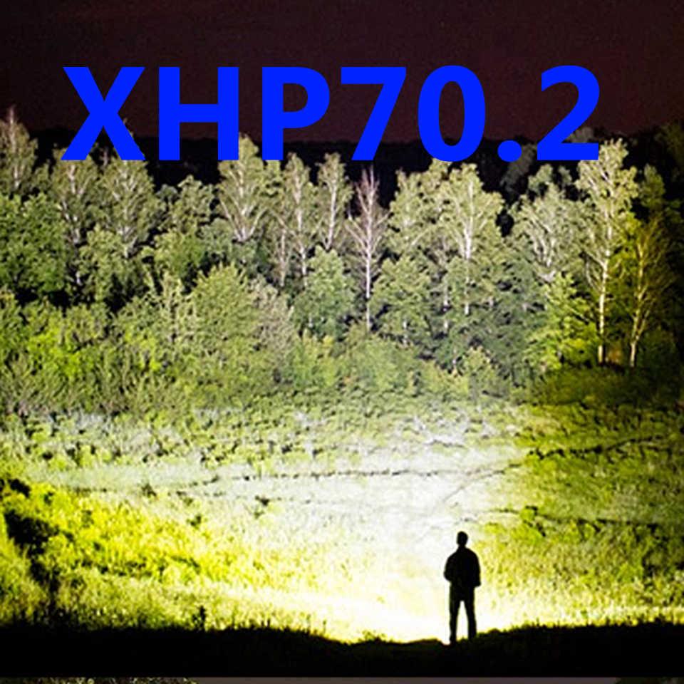 סיטונאי מחיר led פנס 50000 lumens xhp70.2 usb זום לפיד xhp70 xhp50 18650 26650 סוללה נטענת פנס