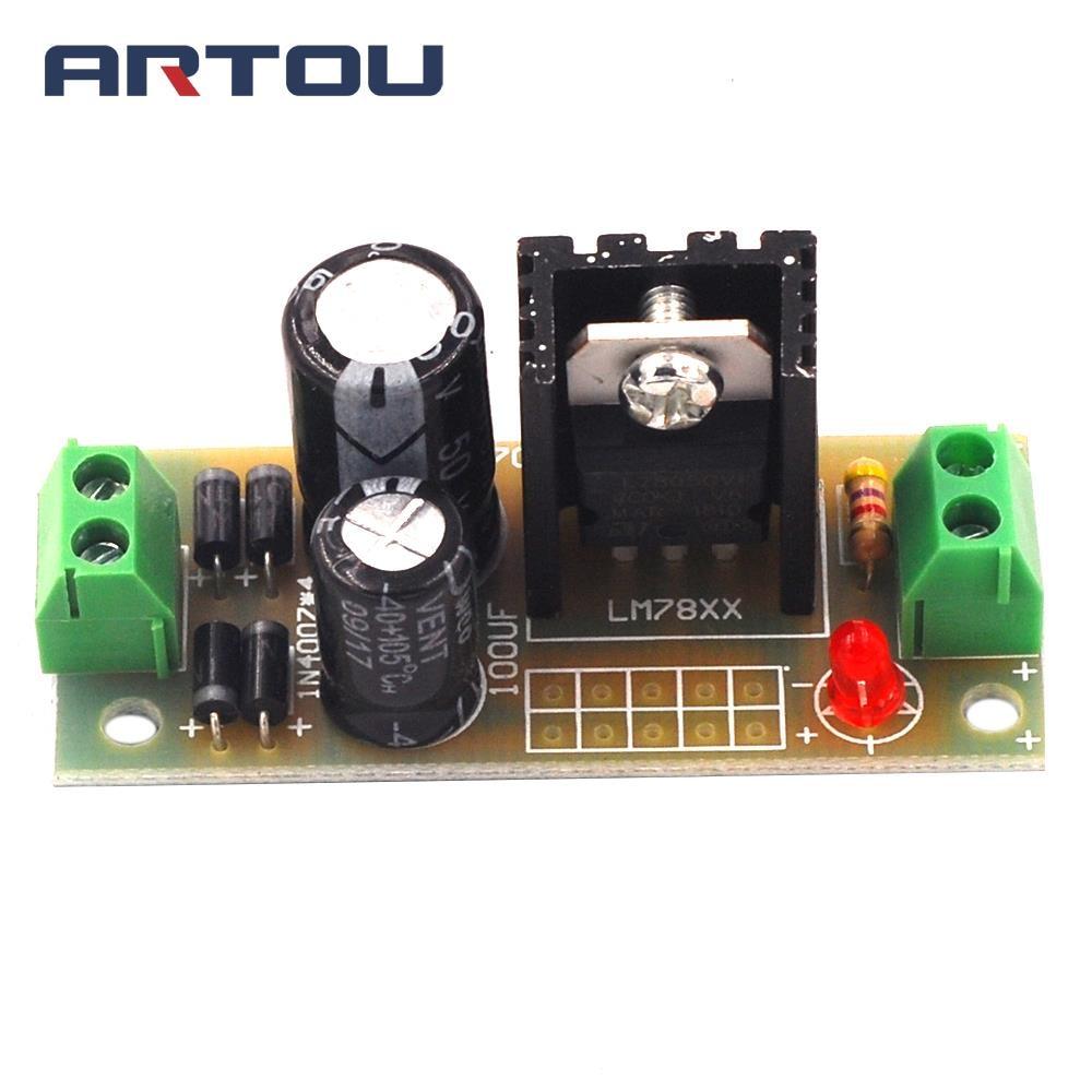 L7805 LM7805 Step Down Converter 7.5V-35V to 5V Regulator Power Supply Module