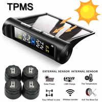 Solar Charging Car Alarm TPMS Bluetooth Tire Pressure Sensor Digital Tyre Pressure Monitoring System Gauge external Sensor