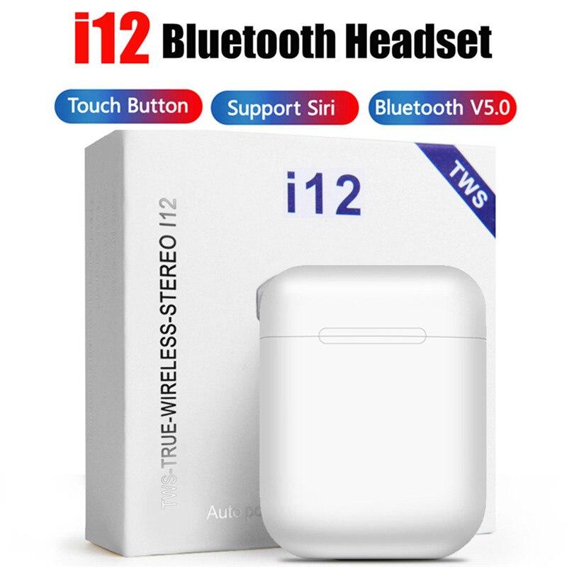 I12 I 12 Tws Bluetooth Sem Earphones Portable Wireless Mini Headphones With Charging Box Multiple Color Choices