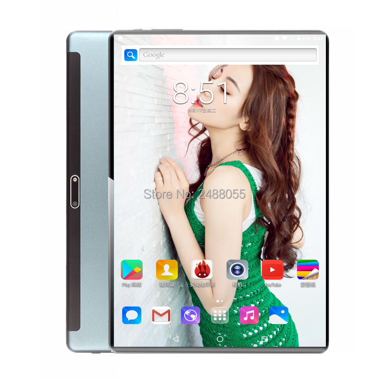 10 Inch Tablets Octa Core 6GB RAM 128GB ROM 3G 4G LTE IPS 10.1 Android 9.0 Tablet PC Netflix Goolgle Store+64GB Memory Card Gift