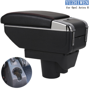 For Opel Astra Armrest Box Opel Astra H Universal Car Central Armrest Storage Box cup holder ashtray modification accessories