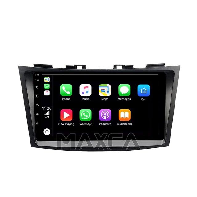 MAXCA 9 pouces sans fil Carplay et Android auto radio pour 2010 Suzuki Swift lecteur vidéo multimédia