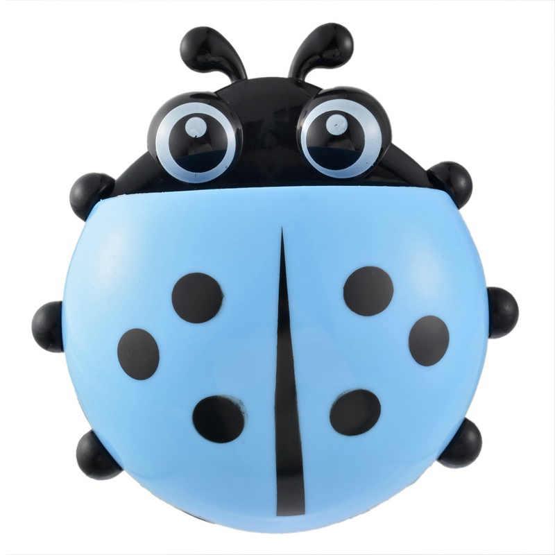 Indah Ladybug Pemegang Sikat Gigi Odol Rak Penyimpanan Kamar Mandi Hisap Pengisap Kait Gigi Sikat Wadah Ladybird