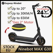 Ninebot – Skateboard électrique pliable MAX G30 avec APP, planche à roulettes à double frein, scooter intelligent avec application, capacité 65 km, original, stock UE