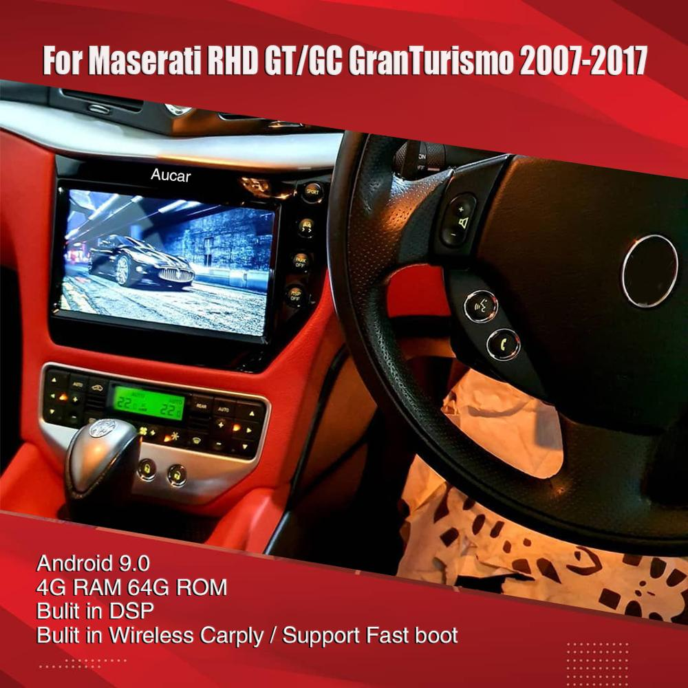 AuCAR 8.1 latest Android system Car Radio for Maserati GT/GC GranTurismo 2007 - 2017 2 gen multimedia Stereo Audio DVD player
