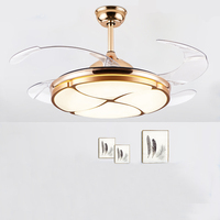 42inch ceiling fan modern Silent light for bedroom living room hotel 220V remote control fan lamp Christmas decorations for home