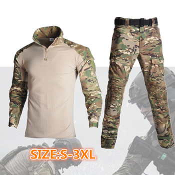 New Tactical Camouflage Military Uniform Clothes Men Army Airsoft paintball training Clothing Combat Shirt or Cargo Pants bdu tactical camouflage military uniform clothes suit men us army clothes airsoft military combat shirt cargo pants