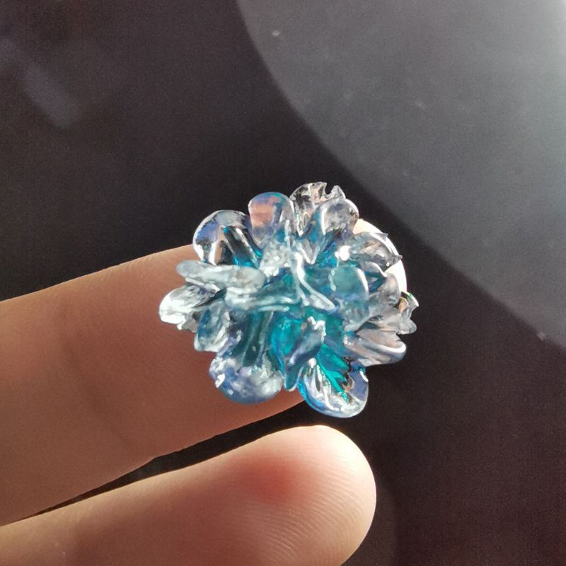 Cristal cluster flor resina molde de quartzo druzy gem brinco moldes jóias fazer dropshipping