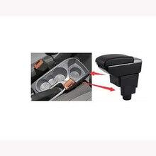 Para Ford Ecosport 2013 2017 contenedor central de coche caja de reposabrazos auto styling tienda central compartimento de almacenamiento portavasos accessori