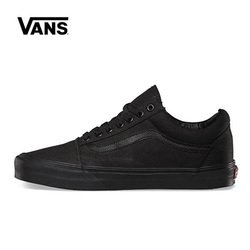 Original Vans Old Skool Black Shoes Men Women Sneakers Unisex Skateboarding Vans Shoes Black VN000D3HBKA