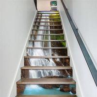 13pcs/set 3D Stair Riser Floor Stickers Waterproof Removable Self Adhesive DIY Stairway Decals Murals Home Decor