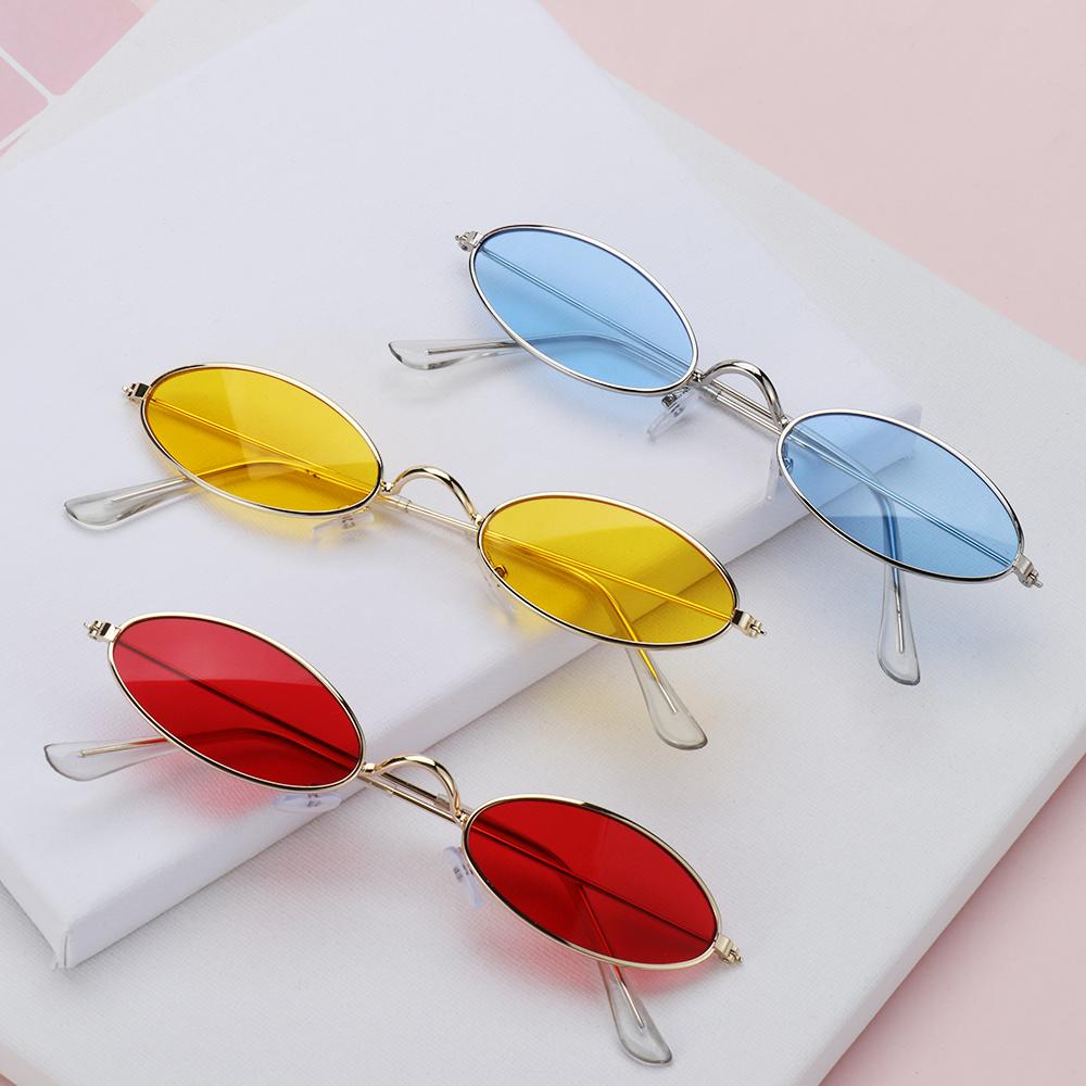 1PC Fashion Design Retro Small Oval Sunglasses Okulary Vintage Shades Sun Glasses for Men Women Anti blue light Eyeglasses