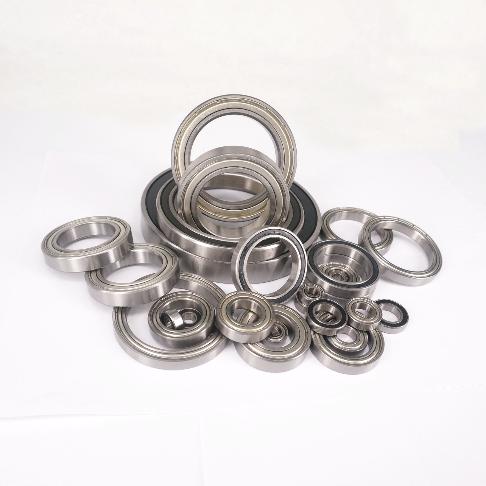 Inner Diameter 1.5mm To 9mm Gcr15 ABEC1/ABEC3  Metal Shield/Rubber Sealed Thin-wall Deep Groove Ball Bearing
