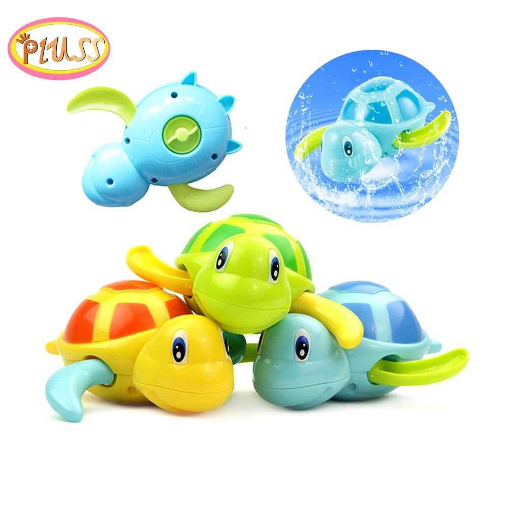 Baby Kids Multi-type Wind Up Tortoise Chain Bathing Shower Clockwork Water Baby Toys Oyuncak Toys For Children 1pc