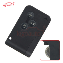 цена на Kigoauto 7701209132 smart Key card 433Mhz PCF7947 3 button for Renault Megane II Megane 2 Scenic II Grand Scenic II 2003-2008