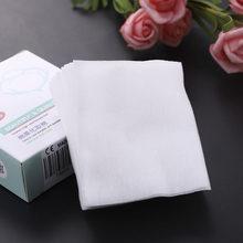 Lingettes démaquillantes en coton jetables, 40/100 pièces/paquet, dissolvant de colle pour cils, maquillage, serviettes de nettoyage du visage, soins personnels