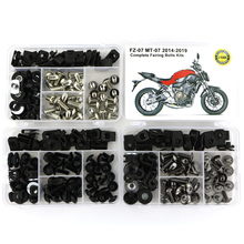 For Yamaha MT07 MT-07 FZ07 2014-2019 Complete Full Fairing Bolts Kit Steel Side Covering Screws Speed Nuts Clips