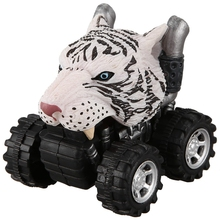 Toy Tire-Wheel Vehicle Kids Mini with Big Creative Gifts for Animal-Style Car-Model White
