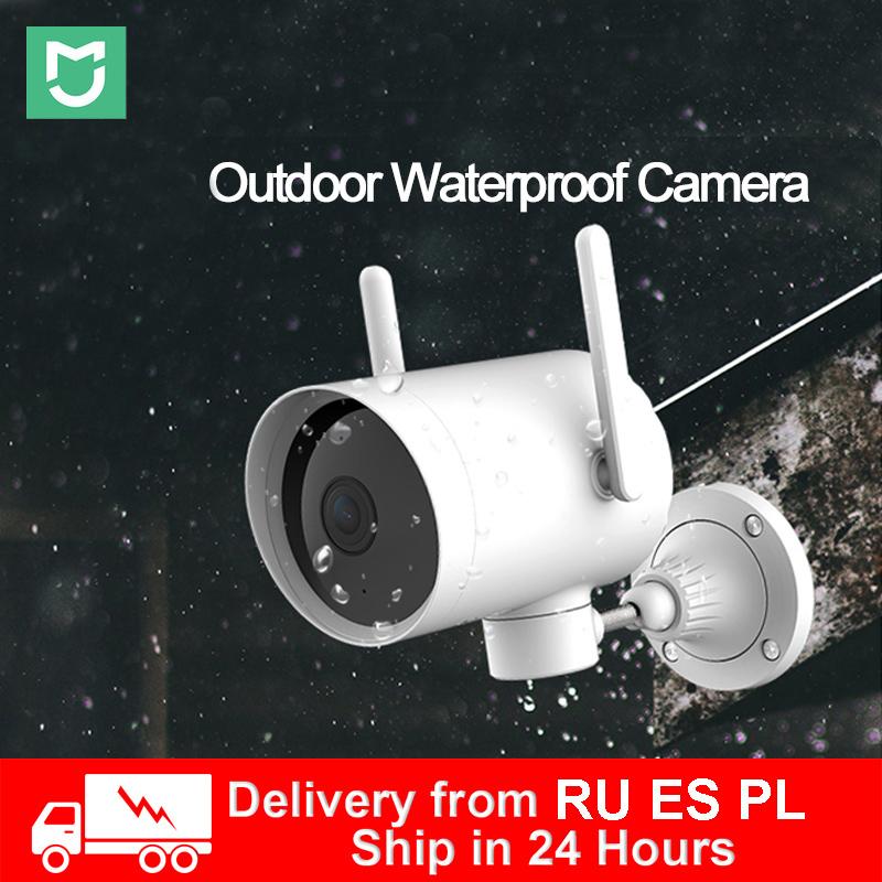 Xiaomi Outdoor Camera Waterproof IP66 WIFI 270 Angle 2K IP Cam Dual Antenna Signal Night Vision Mijia  Smart Webcam 1080P in RU