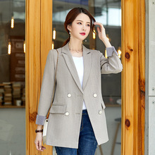 Casual high quality long sleeve blazer Autumn new fashion double-breasted suit jacket female Office 2019 womens