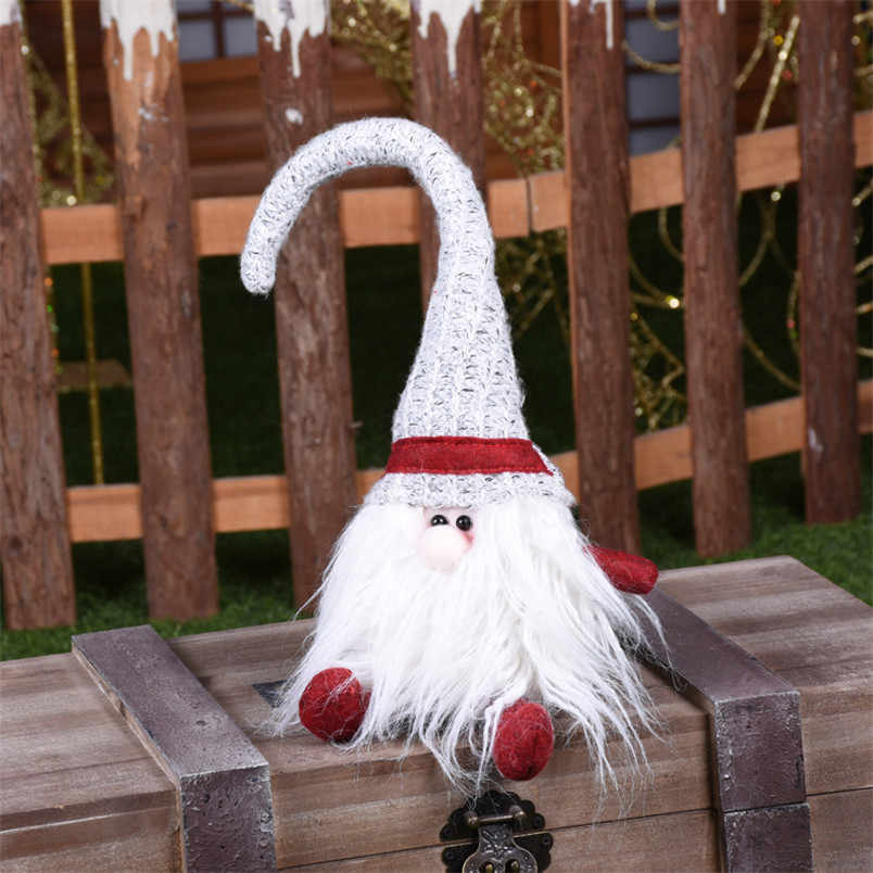 ビッグ帽子クリスマスサンタクロースのおもちゃクリスマスツリーの装飾クリスマスのギフト新年装飾小かわいいサンタクロース · ナターレ 2019
