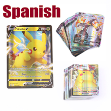 55-100 Pcs Spanish Version Pokemon Card Featuring 100 VMAX 100 Gx 100 Tag Team 20 MEGA 20 EX Spain Spanish Pokemon Card