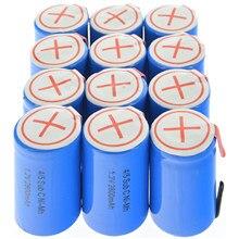 2/4/8/12/16/20 pces 4/5 subc sub c 2800mah 1.2v ni-mh bateria recarregável pilha azul com guia