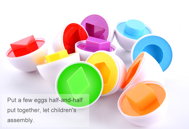 6 Sets Smart Eggs Kids Math Toy Montessori Toys for Children 3D Puzzles Jigsaw Early Model Smart Eggs Toys Developing Gifts #2 6