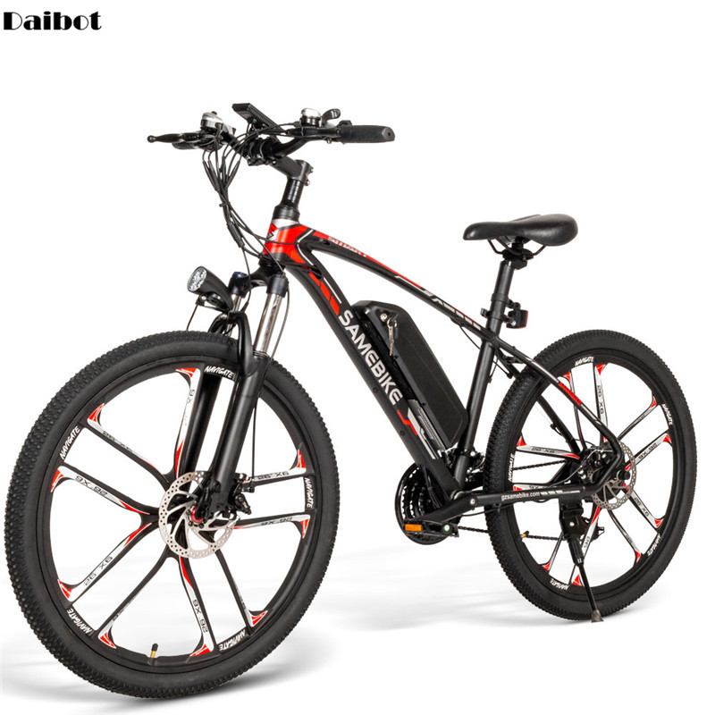 SAMEBIKE MY-SM 26 Electric Mountain Bike Two Wheels Electric Bicycles 350W 48V 384WH 21 Speed System Electric Scooters Adults