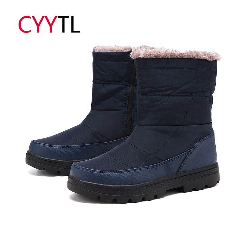 CYYTL hiver mode 2019 Couple neige bottes hommes fourrure chaud imperméable chaussures grande taille 36-46 Botas Hombre Feminino baskets homme