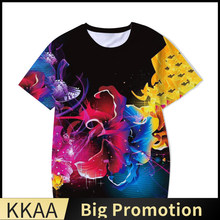 Splash Ink Art Print Summer Color Element Funny 3D Printed T-Shirt Casual Men's Women's And Kids Top Casual Round Neck Cotton 15
