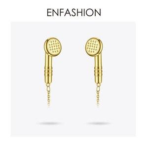 Image 4 - Enfashion metal fones de ouvido corrente gargantilha colar feminino cor do ouro aço inoxidável colares femme moda jóias p193048