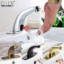 Grifo automático con Sensor de manos libres para baño, frío y calor, grifo para lavabo, mezclador de agua, grúa FYG334