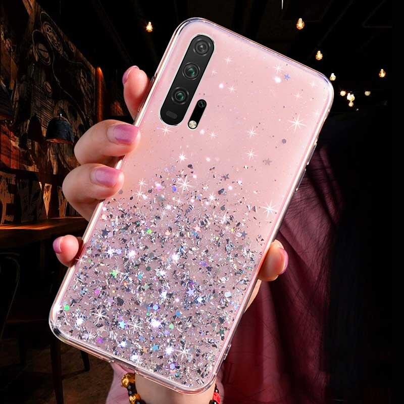Мягкий прозрачный ТПУ чехол для телефона huawei mate 30 20 10 Pro P30 P20 Lite Honor 10i 20i 10 8C 8X 9X Pro P Smart - Цвет: Pink
