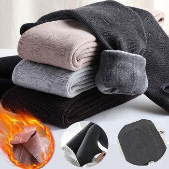 Зимние теплые бархатные женские леггинсы плотные штаны с высокой талией, рождественские леггинсы штаны размера плюс для женщин леггинсы брюки для девочек 2021 Мода|Легинсы|   | АлиЭкспресс
