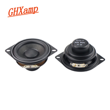 Ghxamp 2 インチ 52 ミリメートルフルレンジスピーカー 4 オーム 5 ワット bluetooth 低音スピーカーネオジムラバーエッジ 16 ミリメートル音声コイルサブウーファーオーディオ 2 個