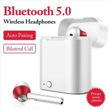 купить 2019 Newest Bluetooth 5.0 Earphone Stereo Wireless Headphones Running Sport Bass Headset With Mic For iPhone Xiaomi Huawei Phone дешево