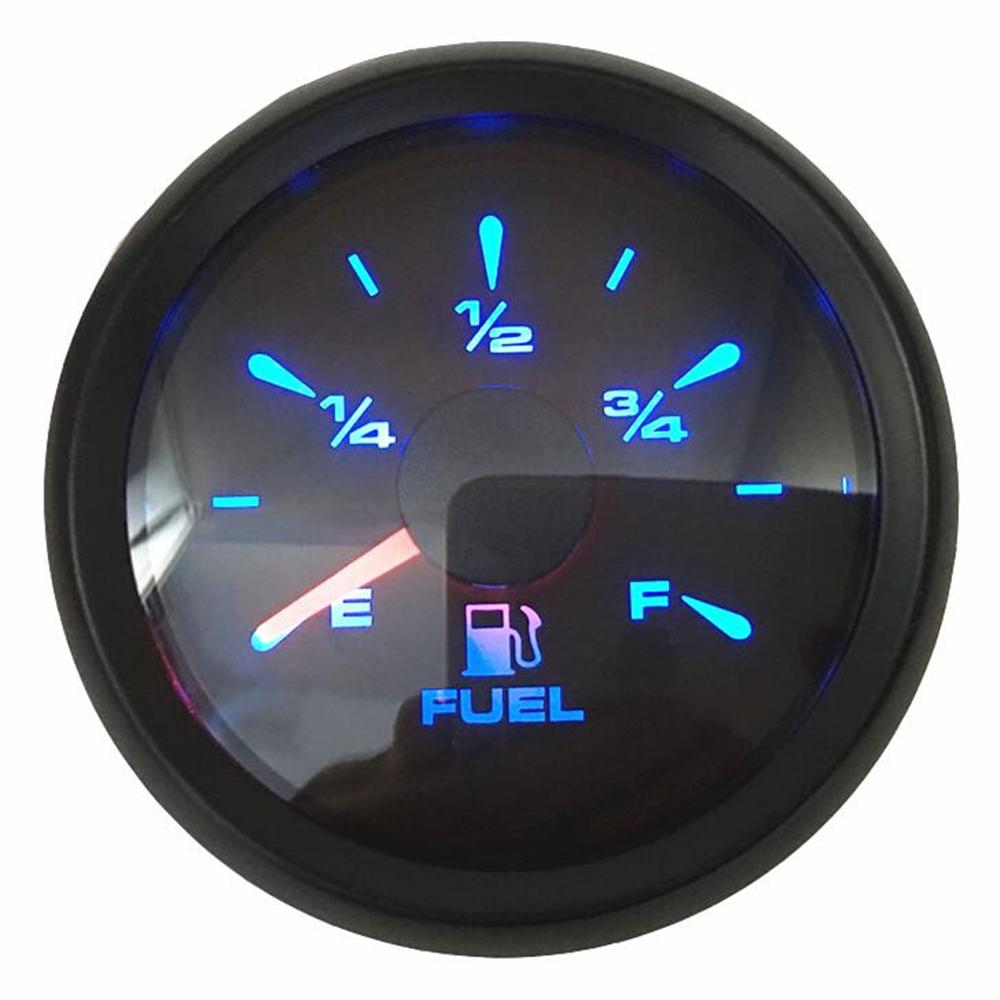 Pack Of 1 New Arrival 52mm Fuel Level Gauges 0-190ohm Or 240-33ohm 0-180ohm Fuel Level Meters With 8 Kinds Backlight Color